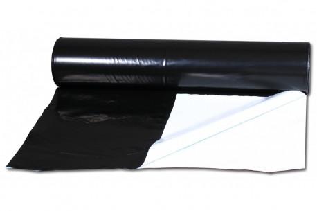 PLASTICO REFLECTANTE NEGRO-BLANCO 2X1METRO 125 MICRAS  * PLASTICO REFLECTANTE