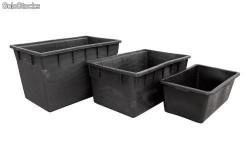 Deposito de riego 90 litros negro rectangular