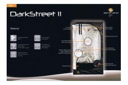KIT DARK STREET II V2.6 120X120X185 CM.  * ARMARIOS DE CULTIVO